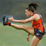 Drenched GWS Giants claim one-point win amid Sydney downpour