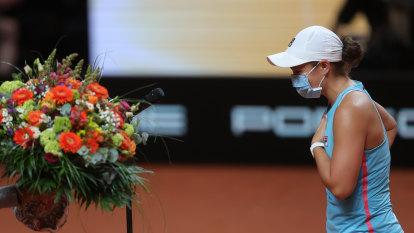 Barty birthday party as Aussie wins through to final, Karatsev stuns Djokovic