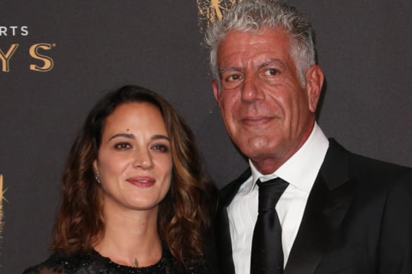 Anthony Bourdain 'cheated on me, too,' Asia Argento reveals in tearful interview