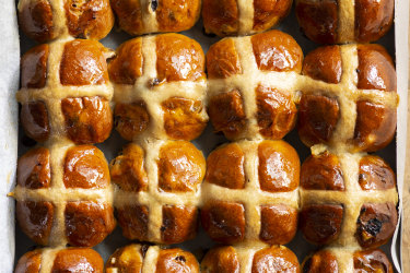 Flour and  Stone hot cross buns