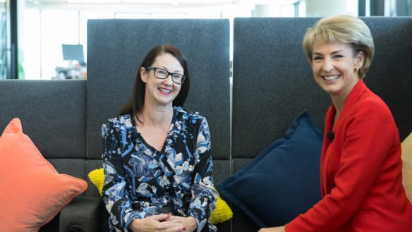 Kaylie Smith of Facebook  and Michaelia Cash, Minister for Small and Family Business.