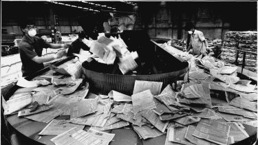 The destruction of census papers in 1992 for privacy reasons.