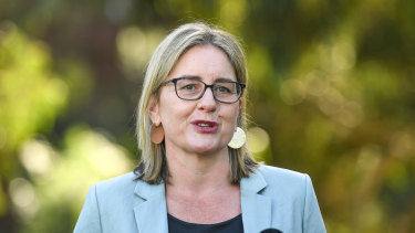 MP Jacinta Allan has been in Victoria's Parliament for more than 20 years and is the leader of the lower house.