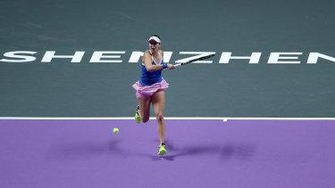 Belinda Bencic retired from her semi-final in Shenzhen.