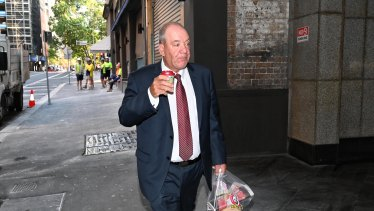Daryl Maguire enters the ICAC ahead of another day of questioning.