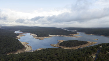 The Cataract Dam to Sydney's south is less than a third full, among the lowest levels for reservoirs serving the Greater Sydney region.
