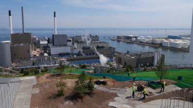The view from CopenHill, the monolithic home to ARC's waste-fired power and heating plant.