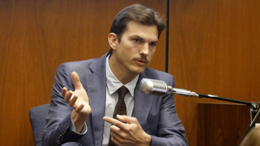 Ashton Kutcher testifies in the murder trial of Michael Gargiulo in Los Angeles Superior Court on Wednesday.