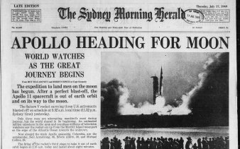 The Sydney Morning Herald's front page on July 17, 1969.