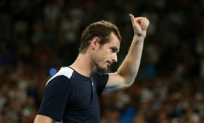 Thanks for the memories: Andy Murray acknowledges the crowd after his defeat on Monday night.