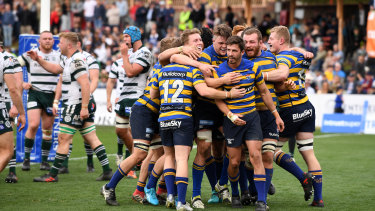 Shot in the arm: the success of the Shute Shield at North Sydney Oval has been one of rugby's few positive headlines in recent times.