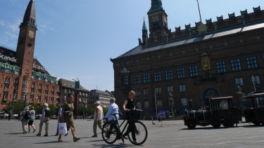 Bicycles in central Copenhagen.
