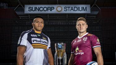Allan Alaalatoa and James O'Connor ahead of Saturday's Super Rugby decider.