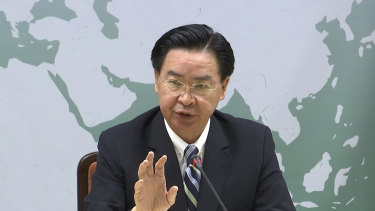 Taiwan's Foreign Minister Joseph Wu denies the accusations from the WHO director general.