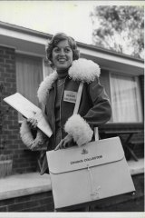 A census collector in 1976.
