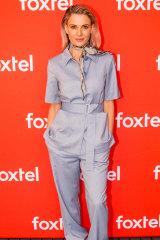 Danielle Cormack in her fashion-forward attire.