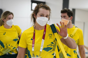 Australian athletes arrive in Tokyo ahead of the Olympics.