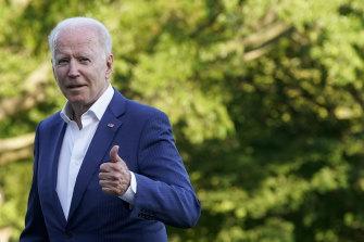 President Joe Biden approved the US air strikes on Iran-backed militias on Monday AEST.