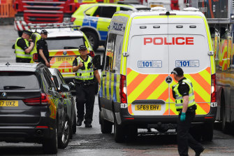 Police said there was no ongoing threat to the public following the incident in central Glasgow.
