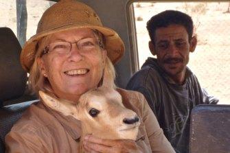 Michele with Oryx in Jordan.