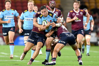 The Waratahs were comprehensively outplayed by the Reds in Brisbane.
