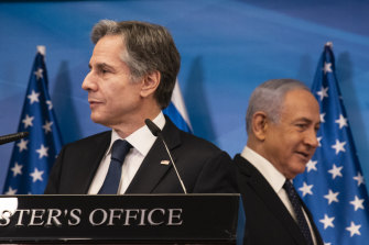 US Secretary of State Antony Blinken, left, and Israeli Prime Minister Benjamin Netanyahu, who is opposed to a return to the Us-Iran nuclear pact.