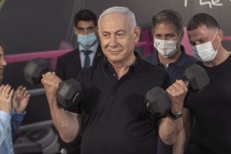 Israeli Prime Minister Benjamin Netanyahu was evasive about Israel's role procuring vaccines for Syria.