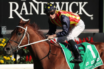 James McDonald won the TJ Smith Stakes with Nature Strip last year and rides the favourite again this weekend.