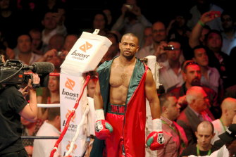 Former world champion Roy Jones jnr ahead of his loss to Danny Green in Sydney in 2009.