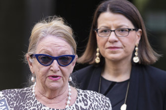 Voluntary Assisted Dying Board representative Betty King alongside Victorian Health Minister Jenny Mikakos earlier this month.