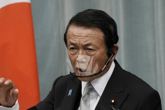 Taro Aso, Deputy Prime Minister, says the water is safe.