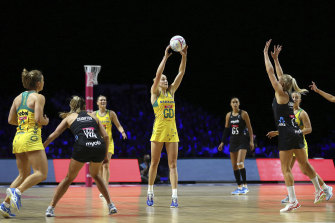 Australia's Jo Weston during the Netball World Cup final in Liverpool.