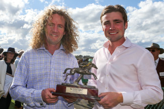 Ciaron Maher, left, and David Eustace are leading the national trainers premiership.