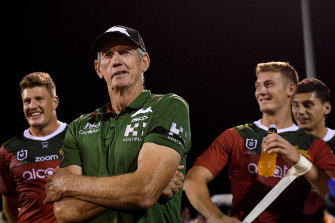 South Sydney coach Wayne Bennett after last year's Charity Shield win.