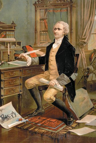 Alexander Hamilton was instrumental in the writing of the US Constitution.