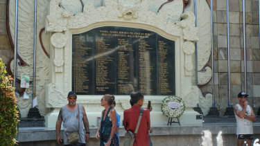 The Bali Bombing Memorial, opposite the former Sari Club.