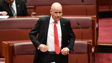 Senator Leyonhjelm refused to apologise for his remarks about Senator Hanson-Young.