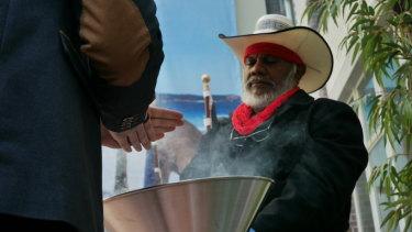 Yawuru law boss Neil McKenzie led the gathering in two smoking ceremonies.