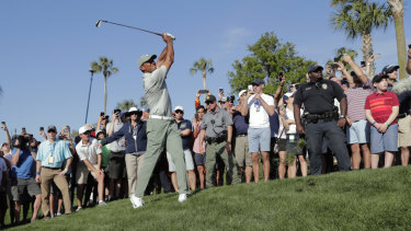Tiger Woods during the first round of the Players Championship.