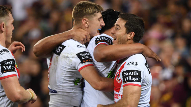 The Dragons' title hopes are alive after a big win over Brisbane.