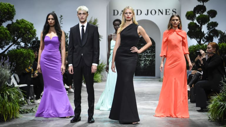 From left: Jessica Gomes, Anwar Hadid, Adut Akech, Karolina Kurkova and Victoria Lee.