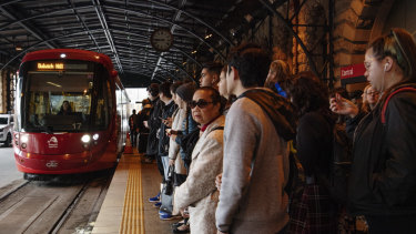Light rail services were suspended between Central and Convention at the height of the morning peak.