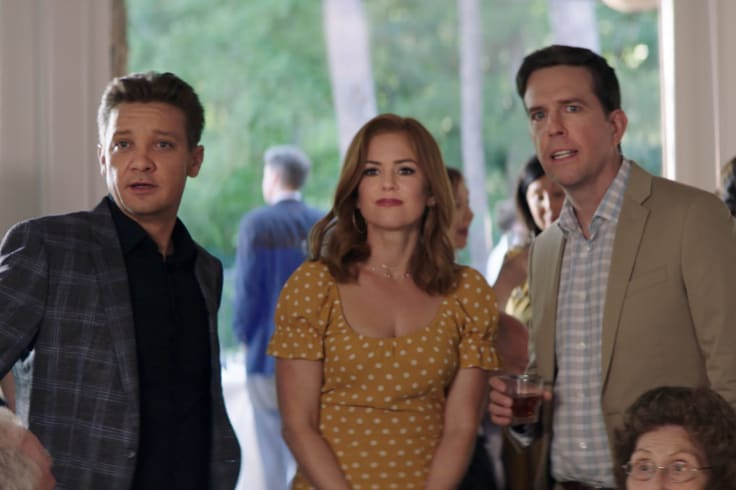 The cast of <i>Tag</i> includes, from left,  Jeremy Renner, Isla Fisher and Ed Helms.