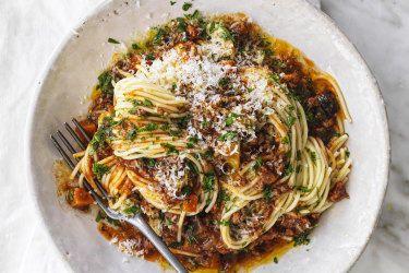 Fifty-fifty bolognese.