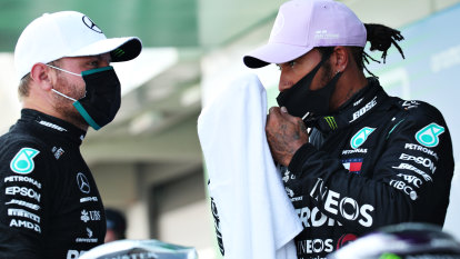 Hamilton on pole as Mercedes sweep Spanish GP front row