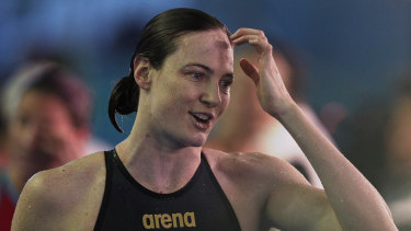Cate Campbell stands to bank $300,000 if she can maintain her hot form in Qatar.