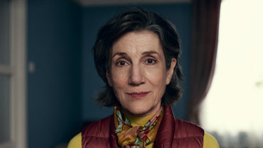 """Harriet Walter in the """"Soldiering On"""" episode of Talking Heads."""