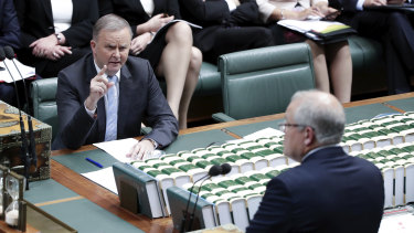 Anthony Albanese accused the government of telling The Australian about an unconfirmed boat arrival.
