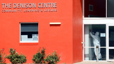 Cleaners can been seen at the The Denison Centre, part of the Mawson Lakes School.