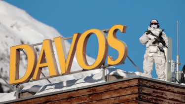 Davos is the usual mixture of snowy heights and high security.